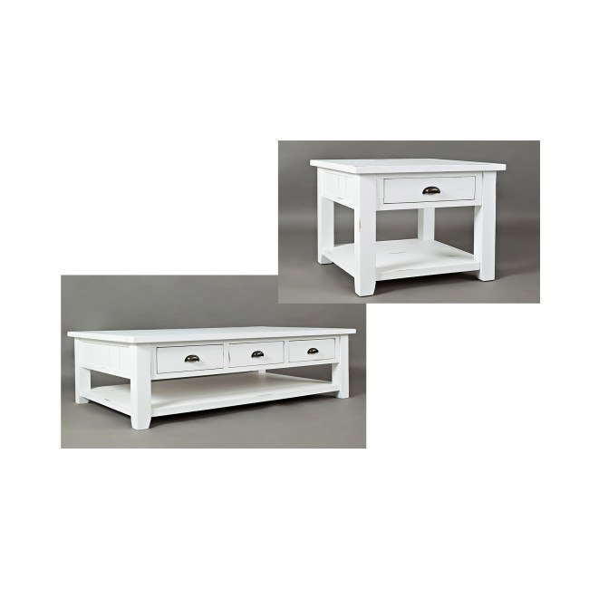 Artisans Craft Occasional Table Set (Weathered White)