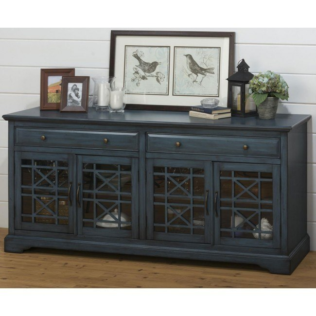 Craftsman 70 Inch Media Unit Antique Blue By Jofran Furniture 1