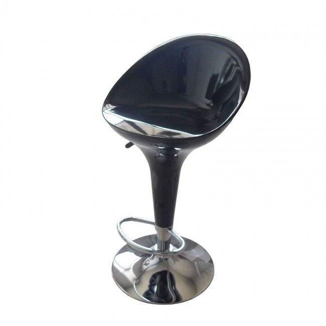 Sybill Mid Back Adjustable Swivel Stool (Black) (Set of 2)