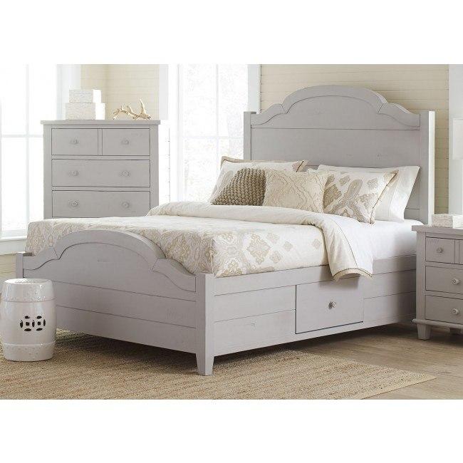 Chesapeake Storage Bed (Dove Grey)