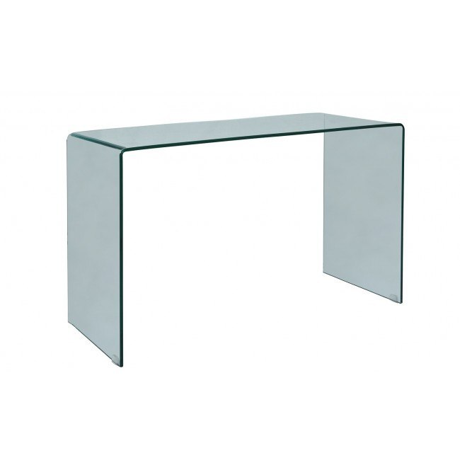Clarity Bent Glass Sofa Table