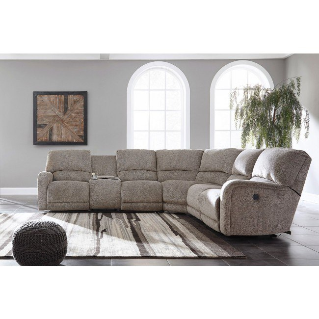 Astounding Pittsfield Fossil Power Reclining Left Loveseat Sectional Pdpeps Interior Chair Design Pdpepsorg