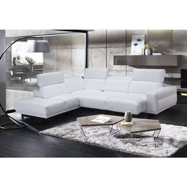Davenport Left Chaise Sectional (Snow White)