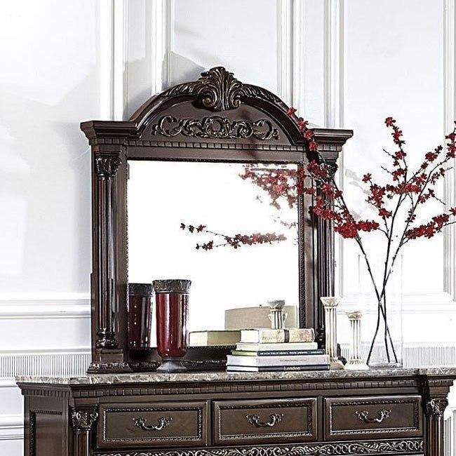 Russian Hill Mirror (Warm Cherry)