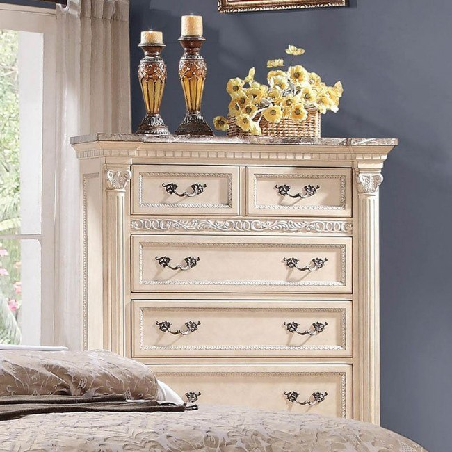 Russian Hill Chest (Antique White)