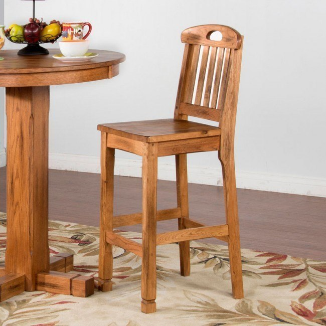 Sedona 30 Inch Slat Back Barstool (Set of 2)