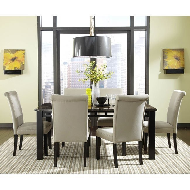 Gateway Grey Dining Set w/ Upholstered Chairs
