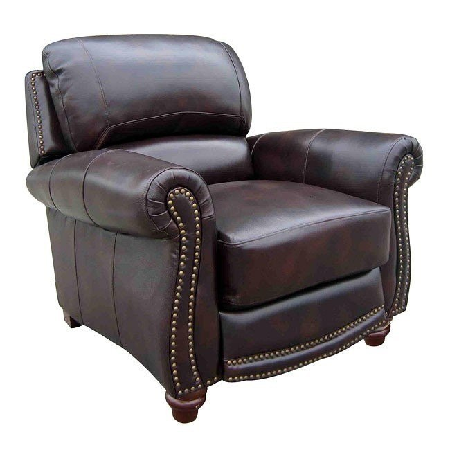 James Leather Push Back Recliner
