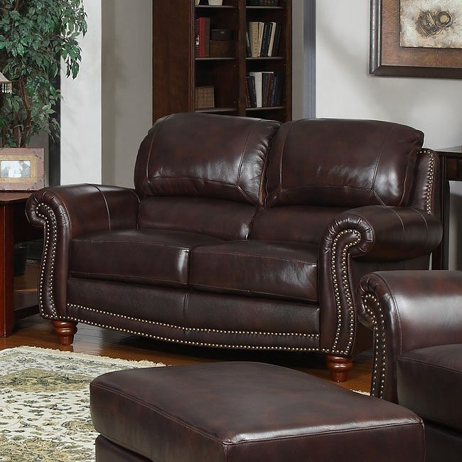 James Leather Loveseat