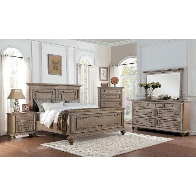 Marceline Panel Bedroom Set (Weathered Gray)