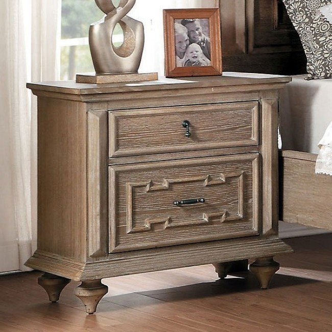 Marceline Nightstand (Weathered Gray)