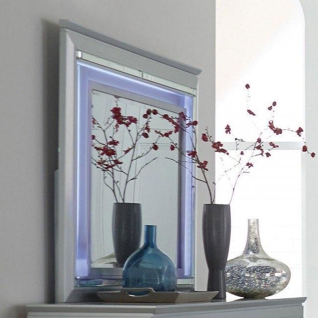 Allura Mirror w/ Lighting (Silver)