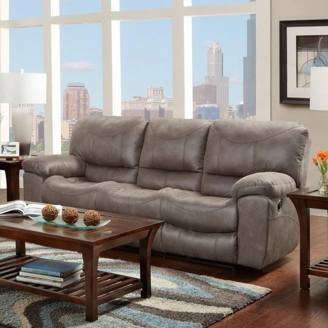 T Reclining Sofa Charcoal By