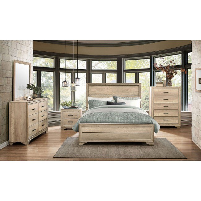 Lonan Panel Bedroom Set