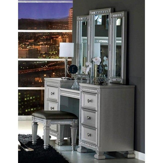 Bevelle Vanity Dresser w/ Mirror