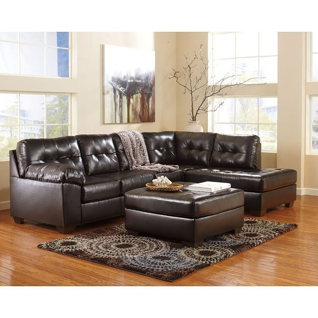 Alliston DuraBlend Chocolate Sectional Set