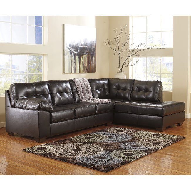 Alliston DuraBlend Chocolate Sectional w/ Right Chaise