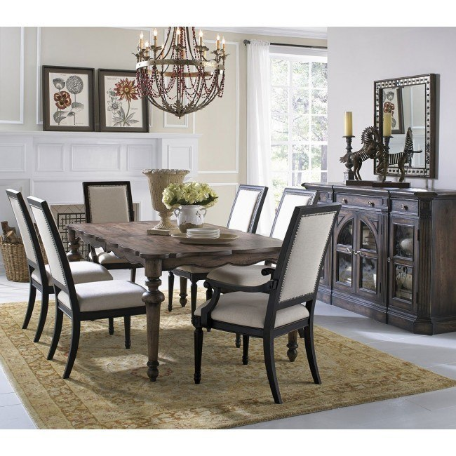 Accentrics Home Lucia Dining Set w/ St Raphael Chairs