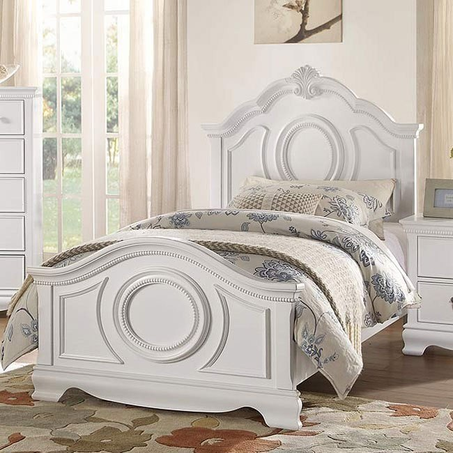 Lucida Youth Panel Bed (White)
