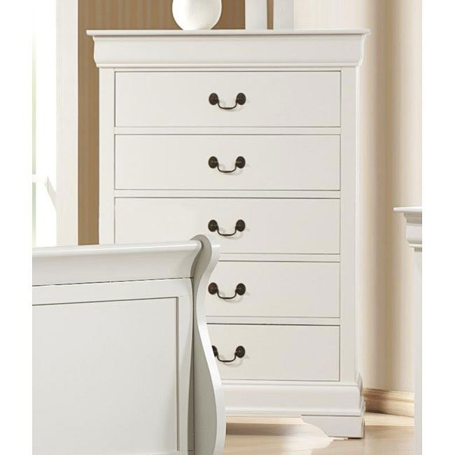 Louis Philippe Chest (White)