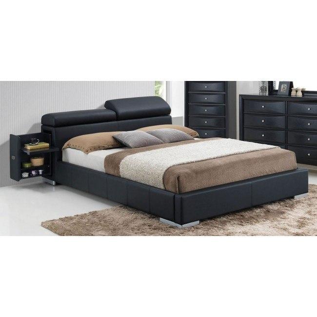 Manjot Upholstered Storage Bed (Black)