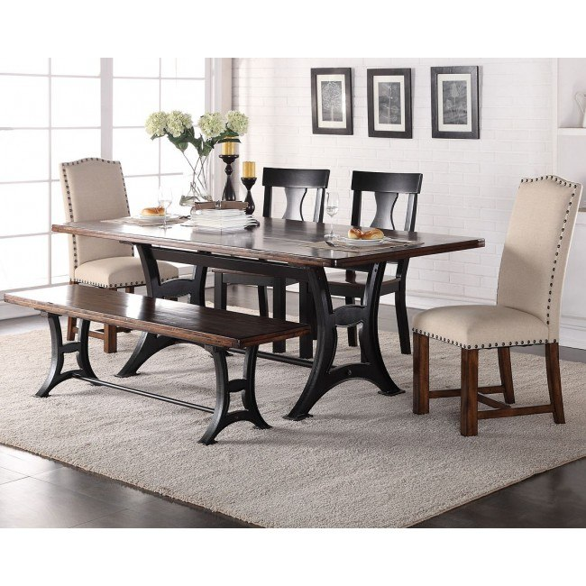 Astor Dining Room Set w/ Upholstered Chairs