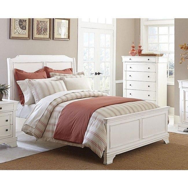 Derby Run Panel Bed (White)