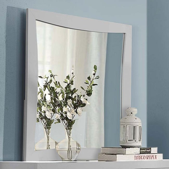 Zandra Mirror (White)