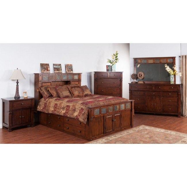 Santa Fe Bookcase Bedroom Set by Sunny Designs | FurniturePick