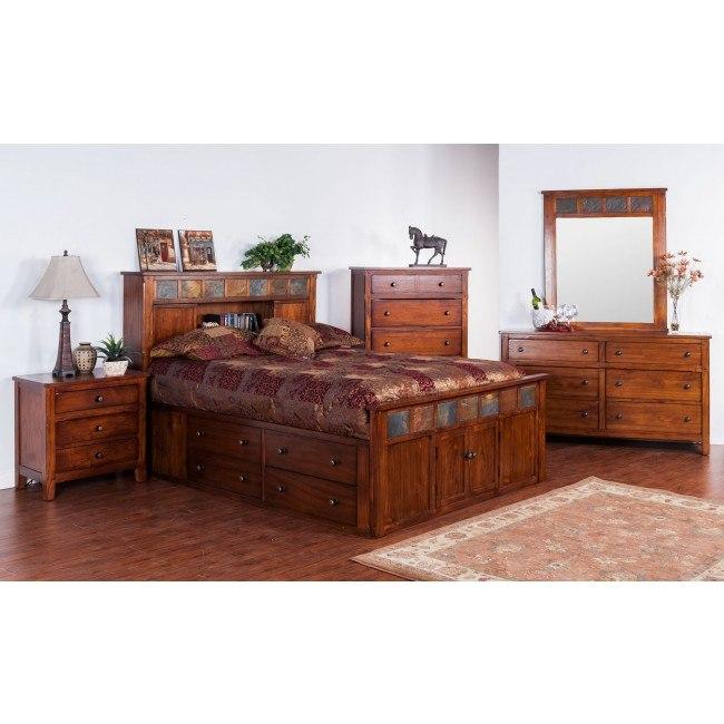 Santa Fe Petite Bookcase Bedroom Set