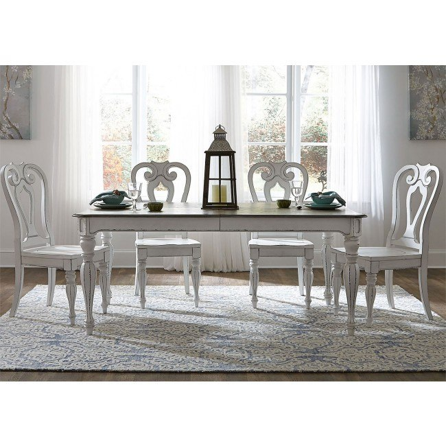 Swell Magnolia Manor 90 Inch Dining Room Set W Wood Chairs Onthecornerstone Fun Painted Chair Ideas Images Onthecornerstoneorg