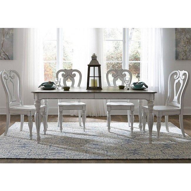 Brilliant Magnolia Manor 90 Inch Dining Room Set W Wood Chairs Creativecarmelina Interior Chair Design Creativecarmelinacom