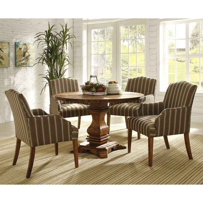 Euro Casual Dining Room Set (Rustic Oak) by Homelegance ...