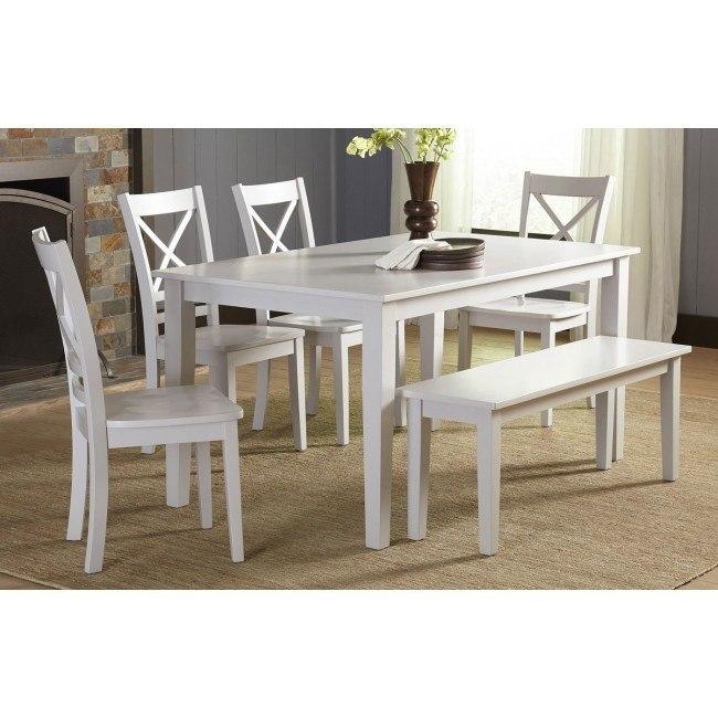 Simplicity Rectangular Dining Room Set (Dove)