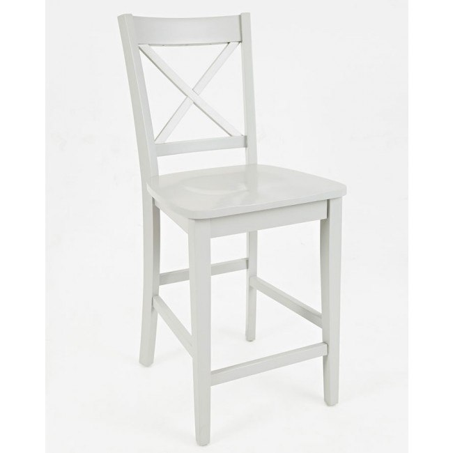Simplicity X Back Counter Height Stool (Dove) (Set of 2)