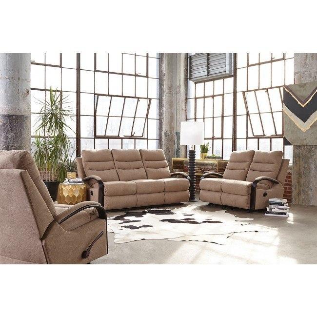Jansen Reclining Living Room Set (Tumbleweed)