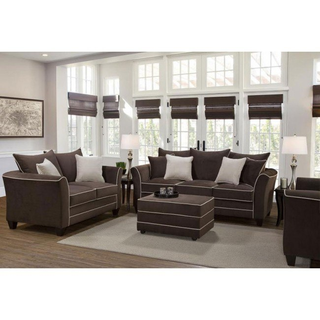2655 Series Bing Chocolate Living Room Set
