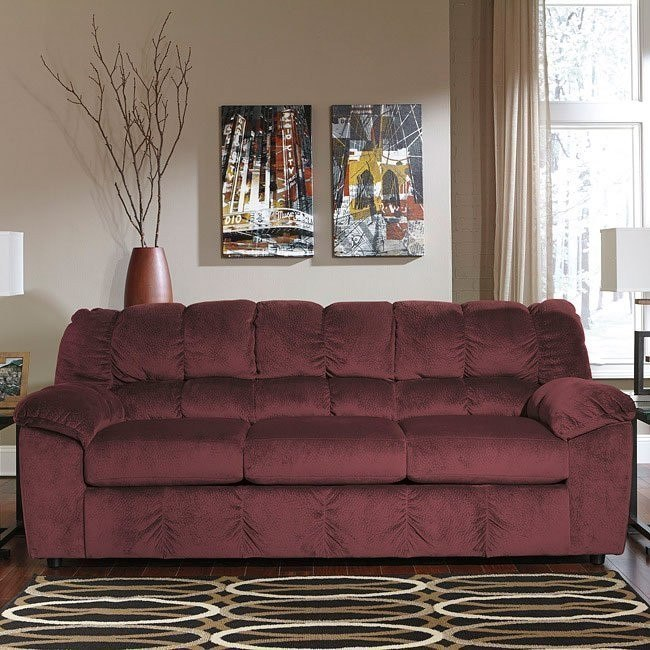 rustic julson burgundy living room set | Julson Burgundy Sofa by Signature Design by Ashley, 1 ...