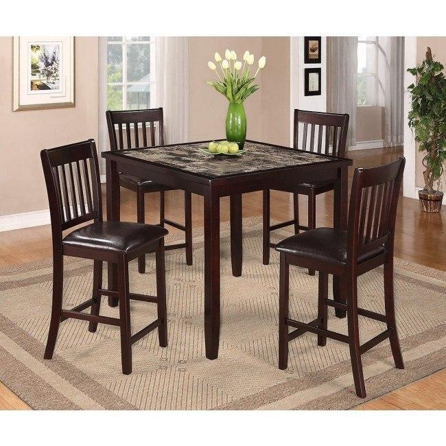 Cascade 5-Piece Counter Height Dining Set