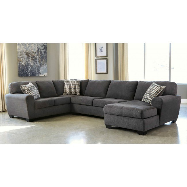 Sorenton Slate Right Facing Chaise Sectional By Benchcraft
