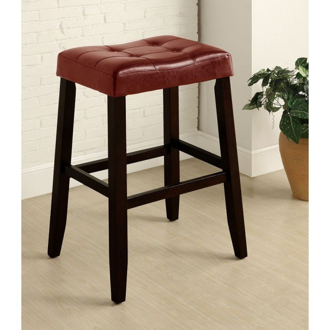 Kent 29 Inch Saddle Stool (Red) (Set of 2)