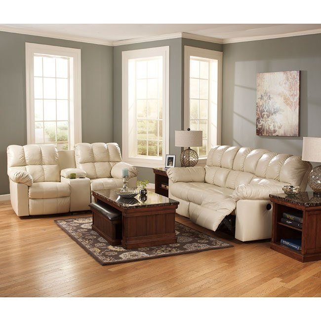 Kennard Cream Living Room Set w/ Power