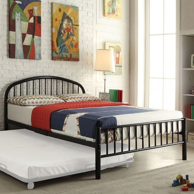 Cailyn Youth Metal Bed (Black)