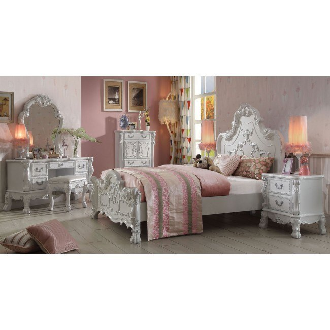 Dresden Youth Panel Bedroom Set (Antique White)