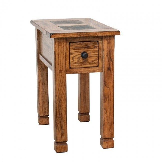 Sedona Slate Top Chairside Table