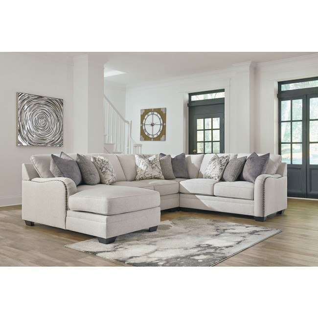 Dellara Chalk Modular Left Chaise Sectional