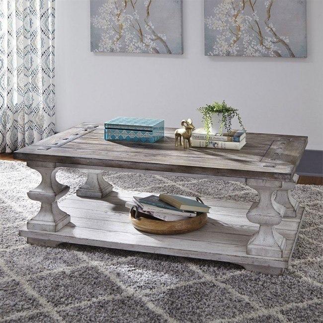 Miraculous Sedona Cocktail Table Distressed White Machost Co Dining Chair Design Ideas Machostcouk