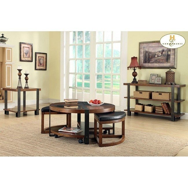 Northwood Occasional Table Set w/ Ottomans