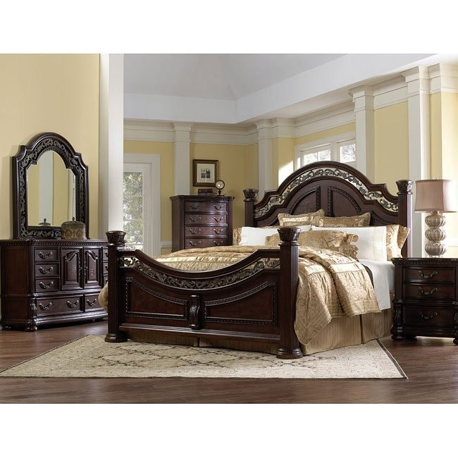 San Marino Low Post Bedroom Set