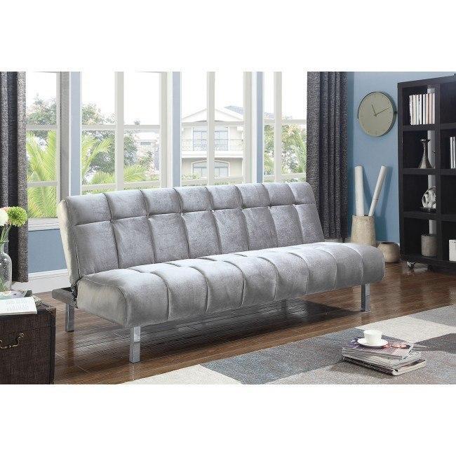 Silver Velvet Sofa Bed By Coaster